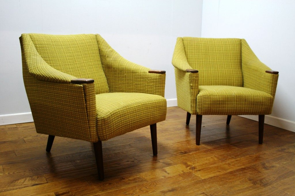 Pair of 1960s Danish Armchairs - Vintage Retro