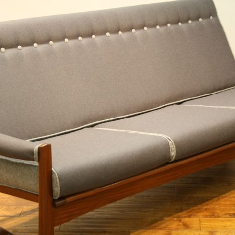 Guy Rogers Early 60s Dark Teak Virginia Sofa Vintage Retro