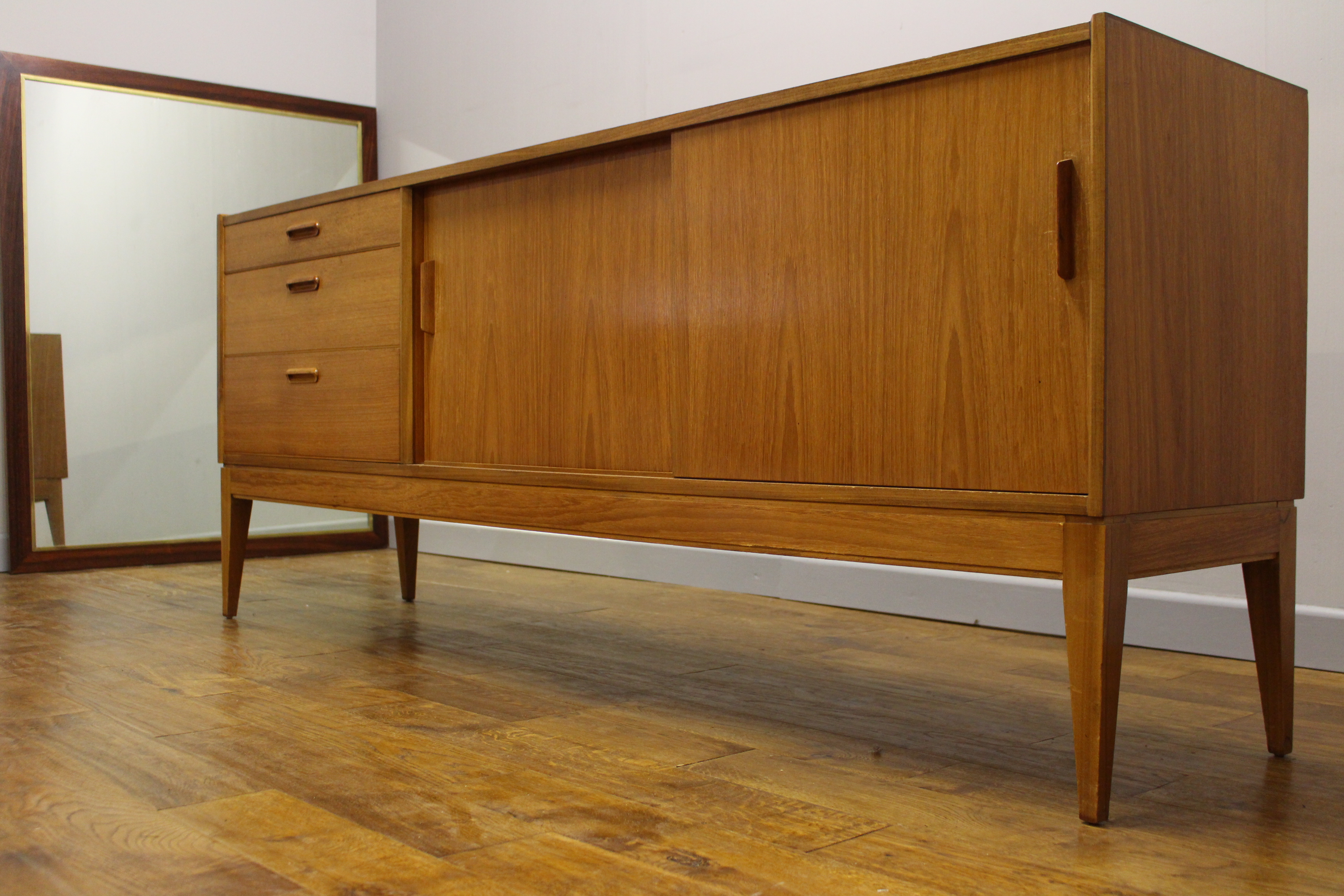 1960s british vintage teak sideboard vintage retro. Black Bedroom Furniture Sets. Home Design Ideas