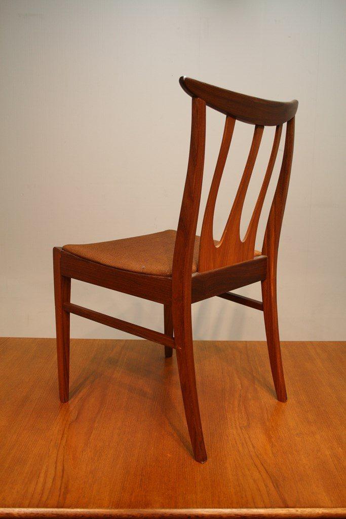 A Set Of 8 G Plan 1960s Teak Dining Chairs Vintage Retro