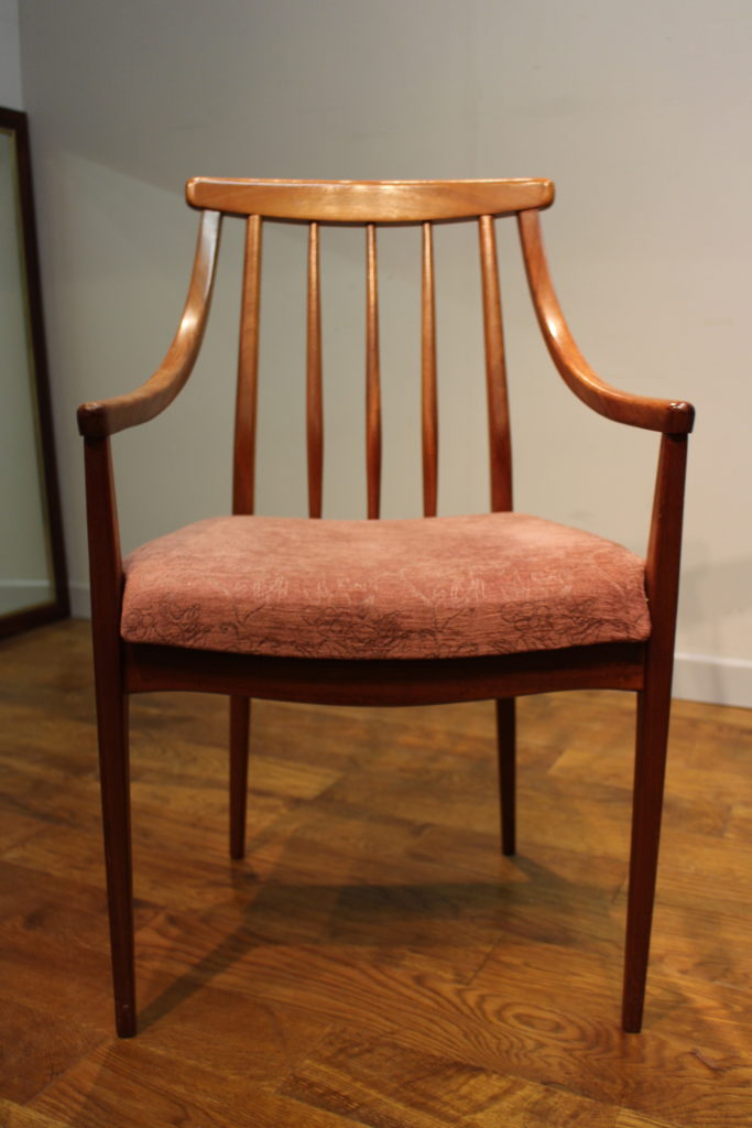 A Pair Of Younger Teak Carver Dining Chairs Vintage Retro