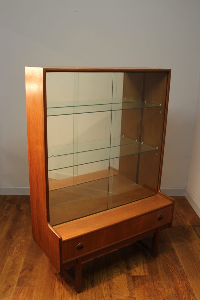 Turnidge Of London1960s Teak Display Cabinet Vintage Retro