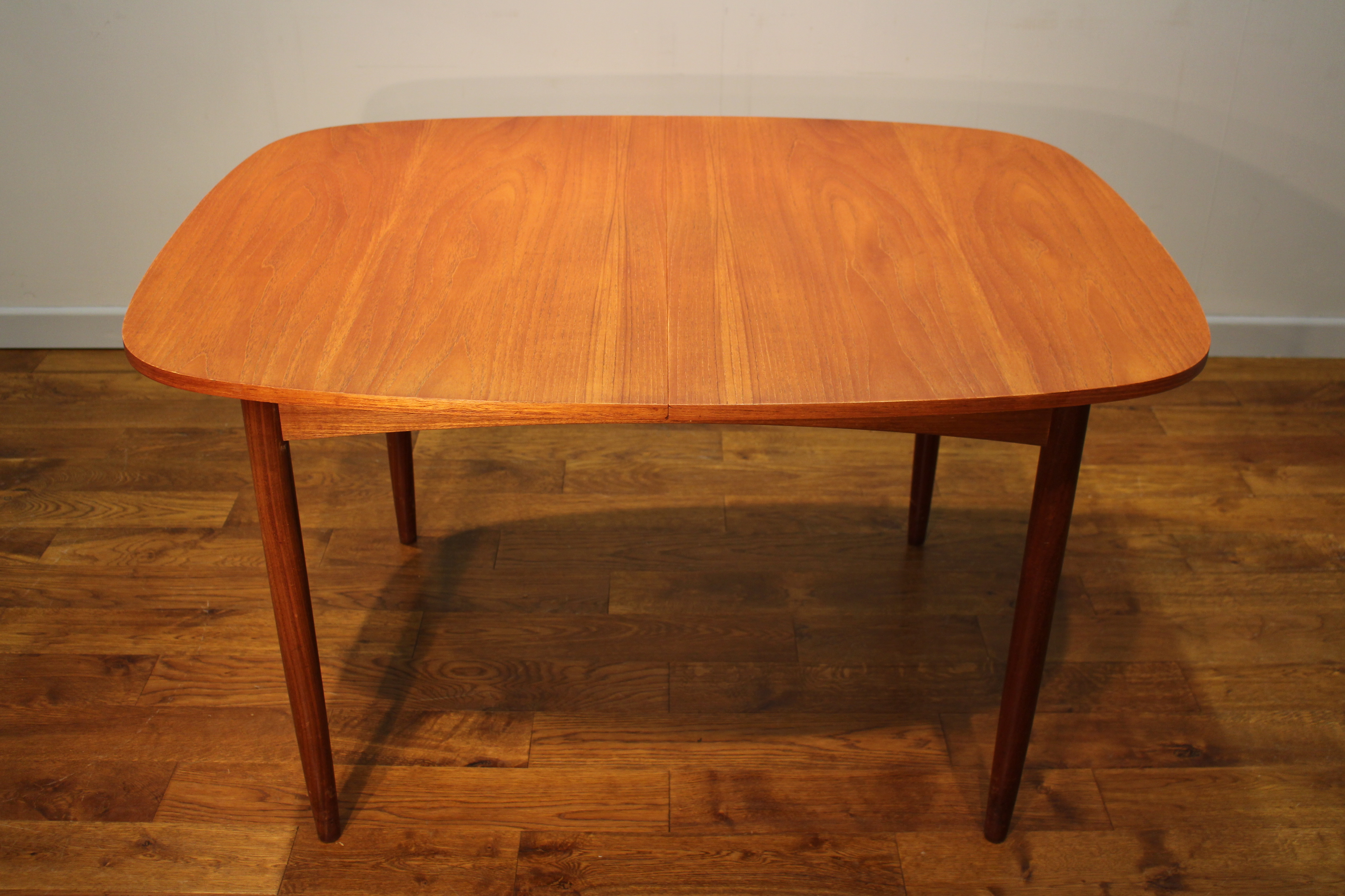 Scarce g plan 1960s teak extending dining table with for G plan teak dining room chairs