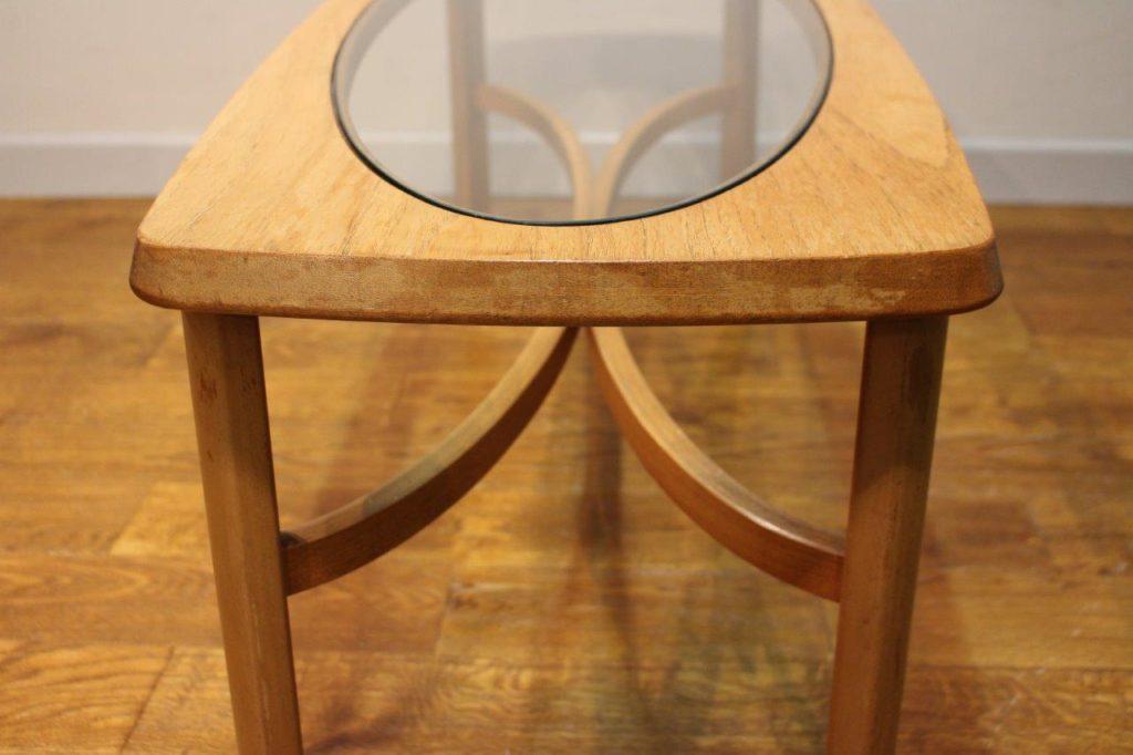 Vintage teak and glass coffee table - Vintage Retro
