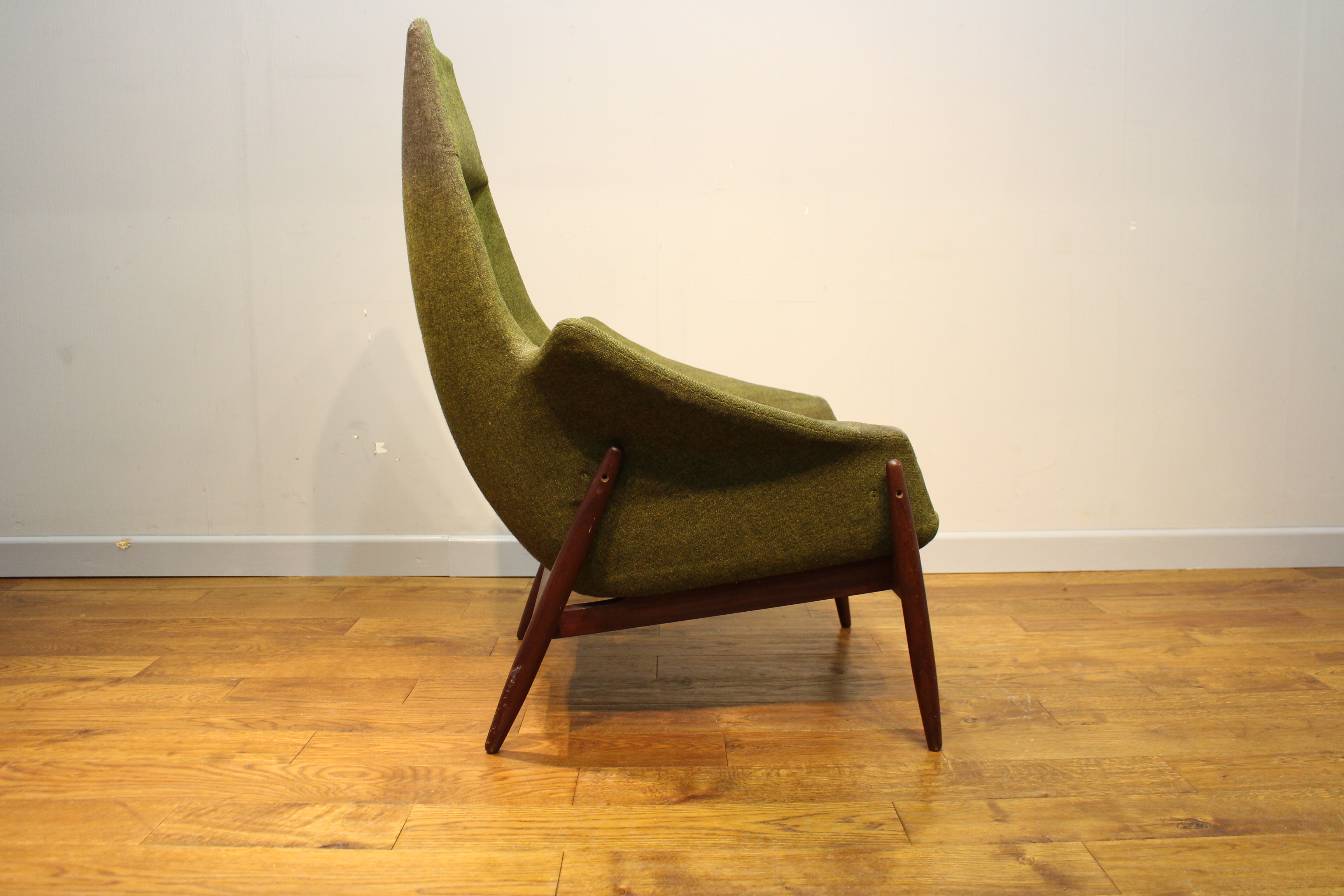 Rare Danish Armchair for Re Upholstery - Vintage Retro