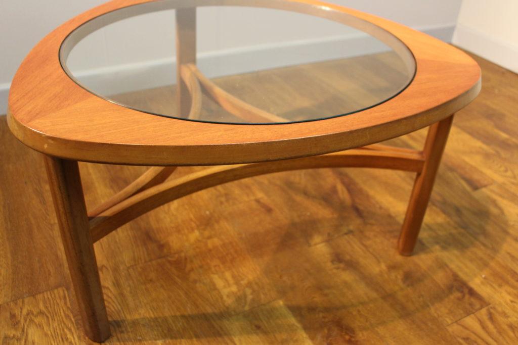 Nathan 1970s teak and glass coffee table - Vintage Retro