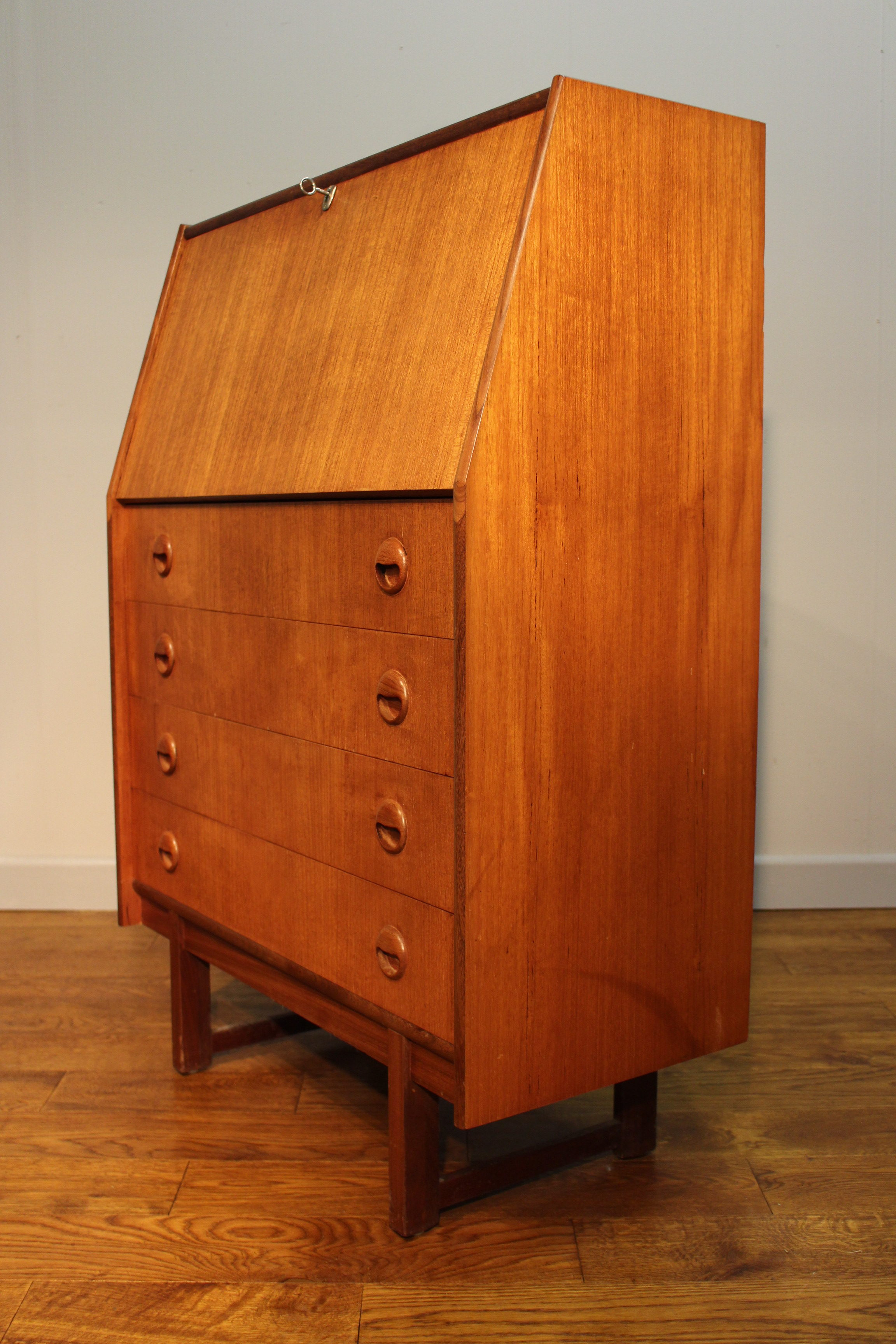 1960s 70s turnidge of london teak bureau vintage retro. Black Bedroom Furniture Sets. Home Design Ideas