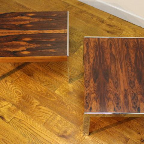 Pair Of Merrow Associates Side Tables Vintage Retro